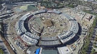Drone footage illustrate vastness of Apple's 'Mothership' headquarters - Video