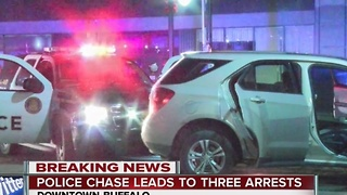 Police chase ends in downtown Buffalo - Video