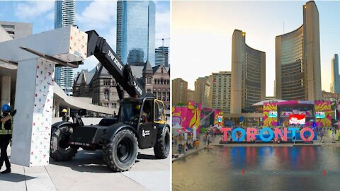 The Iconic Toronto Sign Just Got Torn Down From Nathan Phillips Square