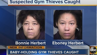 Alleged baby holding gym thieves arrested in Phoenix