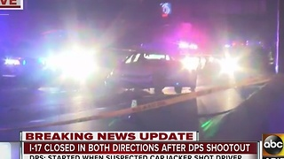 DPS: Suspected carjacker shot driver - Video