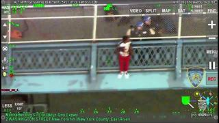 Cops rescue suicidal man on Manhattan Bridge  - Video