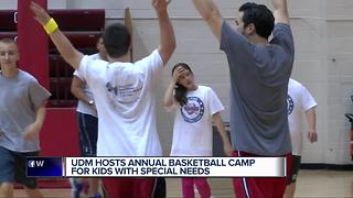 U of D Mercy hosts annual basketball camp for kids with special needs - Video