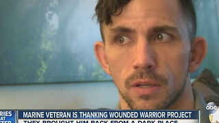 Marine, MMA fighter gets second shot at life thanks to Wounded Warriors Project - Video
