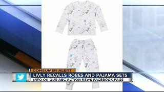 LIVLY recalling children's sleepwear due to violation of federal flammability standard - Video