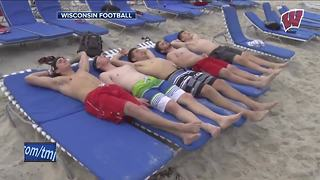 Badgers soak in the sun during Orange Bowl Beach Day - Video