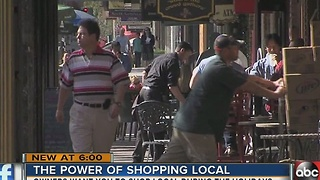 The benefits of shopping locally - Video