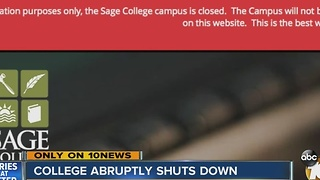 Sage College closes - Video