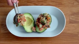 BLT Stuffed Avocados - Video