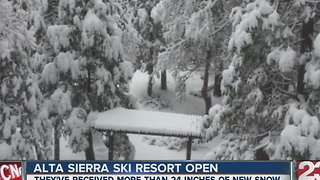 Alta Sierra open for the season - Video