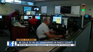 Big mistake shuts down Pasco County 911 center - Video