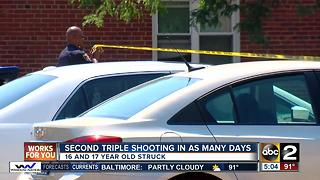 Second triple shooting in as many days in Baltimore - Video