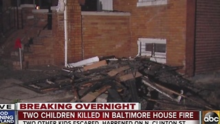 2 children killed in house fire on N. Clinton Street