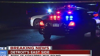 Body of kidnapped man found in Detroit - Video