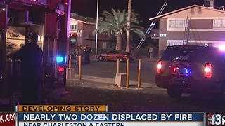 21 people displaced after apartment fire in east Las Vegas