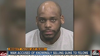 Man accused of knowingly selling guns to felons - Video