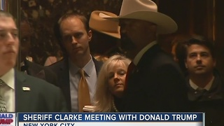 Milwaukee County Sheriff David Clarke meets with Donald Trump
