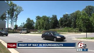 New law: Right of way of roundabouts - Video