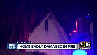 Chandler home badly damaged in fire - Video