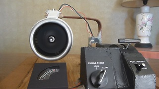 Homemade electric jet engine actually works! - Video