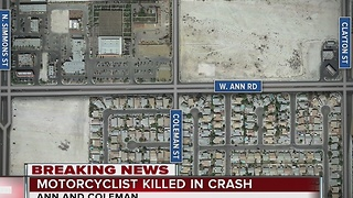 Motorcyclist dies in North Las Vegas crash - Video