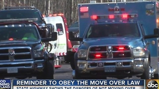 SHA reminds drivers to obey the Move Over law - Video