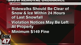 Residents could face fine if snow isn't cleared - Video