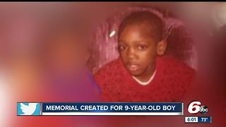 Memorial created for 9-year-old boy shot and killed
