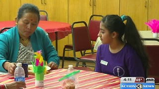 Students visited seniors - Video