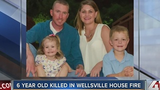6-year-old boy dies in Wellsville, KS house fire - Video