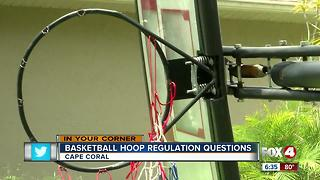 Basketball Hoop Regulation Questions