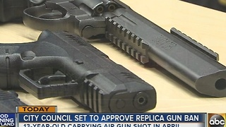 Baltimore City Council set to approve replica gun ban - Video