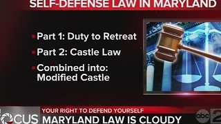 Understanding the right to protect yourself in Maryland - Video