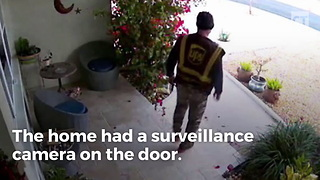 UPS Driver Caught Red Handed Hours After Dropping Off Package - Video