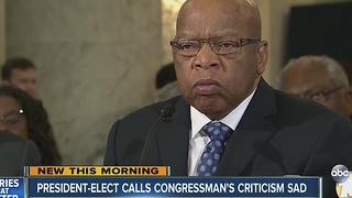 President-elect calls Congressman's criticism sad - Video