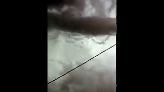Swirling Tornado Forms Above Baker, Montana - Video