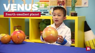 4-year-old genius explains the planets in our solar system | Anson's Answers - Video