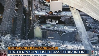 Fire destroys over a dozen classic cars, including father's gift to son - Video