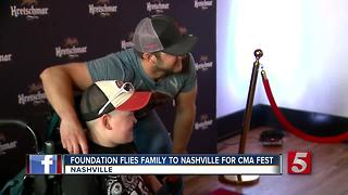 Make-A-Wish Helps Child Meet Country Stars - Video