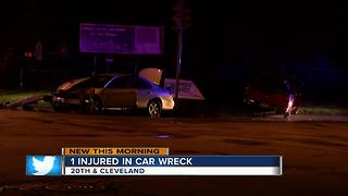 South side wreck ends in arrest - Video