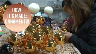 Behind-the-scenes at a glass blown ornament mecca - Video
