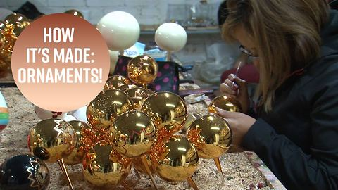 Behind-the-scenes at a glass blown ornament mecca