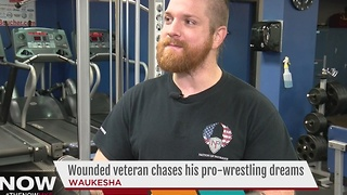 Wounded veteran chases pro wrestling dreams - Video