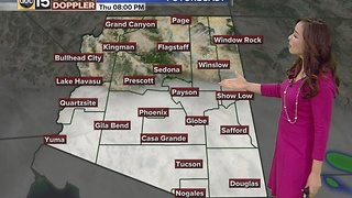 Rain chances back in the Valley as we wrap up 2016 - Thursday, December 29, 2016 - Video