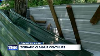 Orchard Park cleaning up after tornado - Video