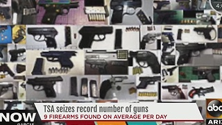 TSA seizes record number of guns - Video