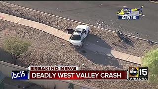 Two vehicle crash kills passenger in Avondale - Video