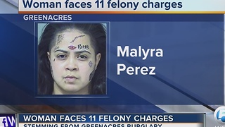 Woman faces 11 felony charges