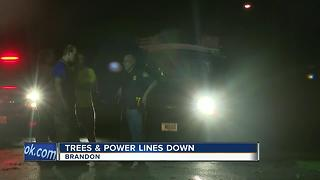 High winds, severe weather cause damage in Brandon - Video