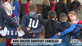 Sunday games canceled at soccer shootout - Video